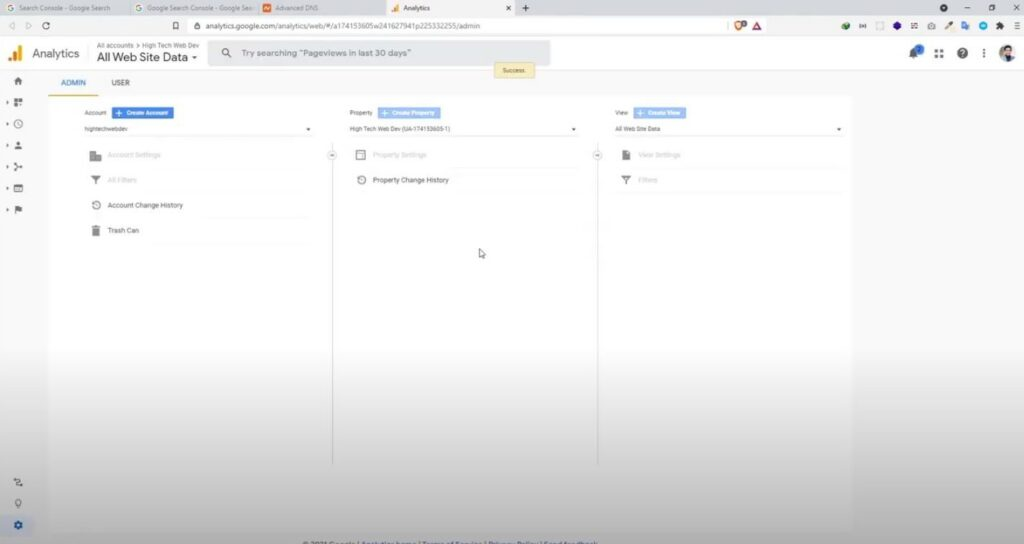 Google Analytics Page (If have used it before)