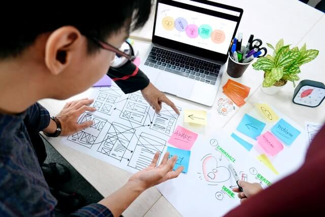 Designers working for a better user experience.